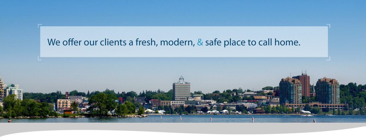 We offer our clients a fresh, modern, & safe place to call home.